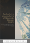Restructuring or Acculturing of Nigeria 1 by Gregory Ekhator (e-Book)